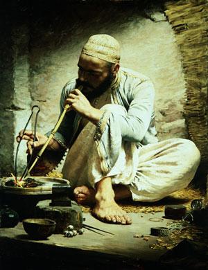 The Arab Jeweler ca 1882 | Charles Sprague Pearce | Oil Painting
