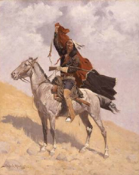 The Blanket Signal 1896 | Frederic S Remington | Oil Painting