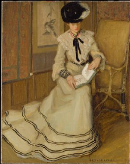 Girl Reading 1903 1904 | Frederick Carl Frieseke | Oil Painting