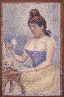 Young Woman Powdering Herself 1889 | Georges Seurat | Oil Painting
