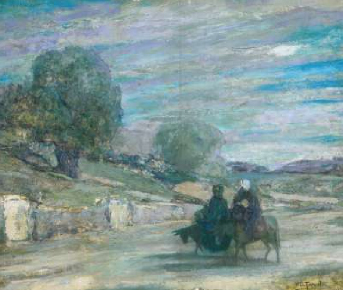 Flight into Egypt 1921 | Henry Ossawa Tanner | Oil Painting