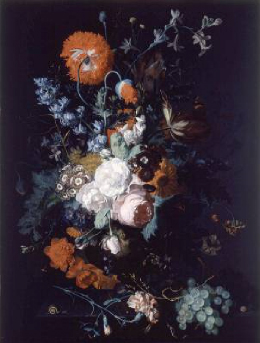 Still Life of Flowers and Fruit 1715 | Jan van Huysum | Oil Painting