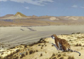 Tiger on the Watch | Jean Len Guee | Oil Painting