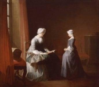 The Good Education 1753 | Jean Simen Chardin | Oil Painting