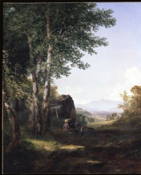 A View of Mansfield Mountain 1849   John Frederick Kensett   Oil Painting