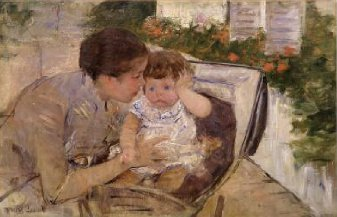 Susan Comforting the Baby 1881 | Mary Cassatt | Oil Painting