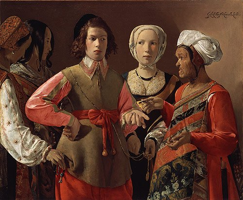 The Fortune Teller probably 1630s | Georges de La Tour | Oil Painting
