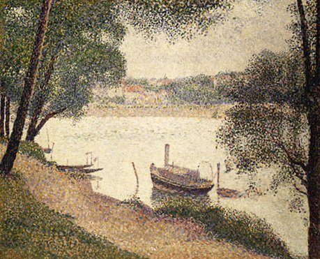 Gray Weather Grande Jatte ca. 1888 | Georges Pierre Seurat | Oil Painting
