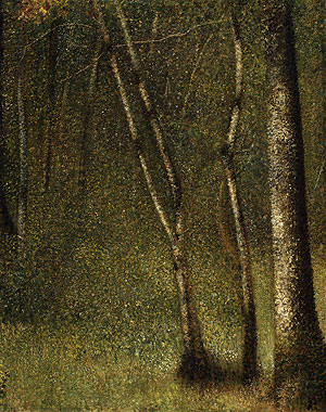 The Forest at Pontaubert | Georges Pierre Seurat | Oil Painting