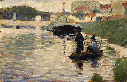 View of the Seine | Georges Pierre Seurat | Oil Painting