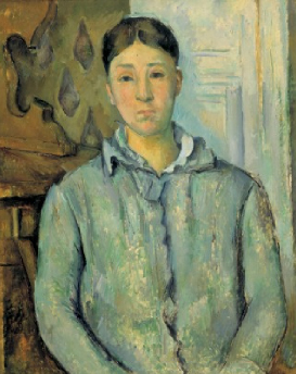Madame Ceanne in Blue 1888 90 | Paul Cezanne | Oil Painting