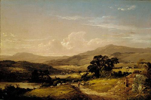 Near Squam Lake New Hampshire 1856   David Johnson   Oil Painting
