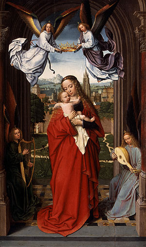 Virgin and Child with Four Angels ca 1510 | Gerard David | Oil Painting