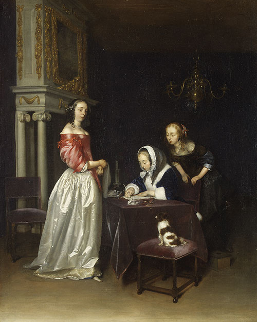 Curiosity ca 1660 | Gerard ter Borch | Oil Painting