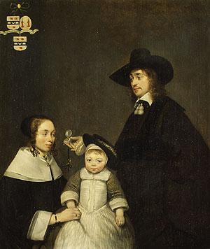 The van Moerkerken Family probably 1653 | Gerard ter Borch | Oil Painting