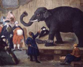 The Display of the Elephant 1774 | Pierre Longhi | Oil Painting