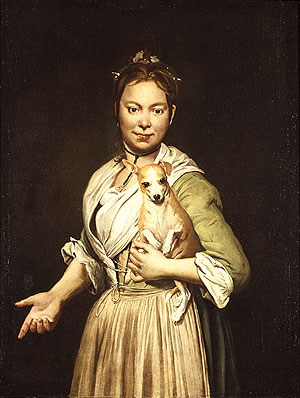 A Woman with a Dog | Giacomo Ceruti | Oil Painting
