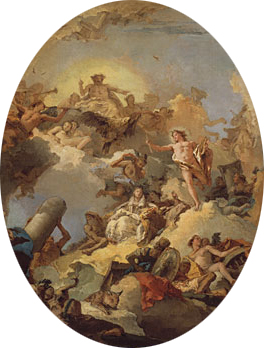 The Apotheosis of the Spanish Monarchy sketch for a ceiling painting | Giovanni Battista Tiepolo | Oil Painting