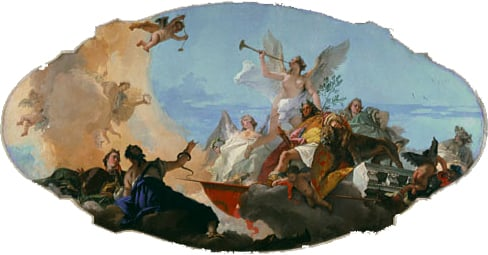 The Glorification of the Barbaro Family ceiling decoration ca. 1750 | Giovanni Battista Tiepolo | Oil Painting