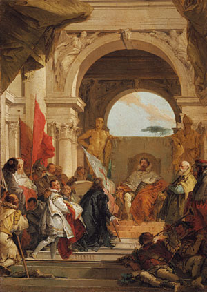 The Investiture of Bishop Harold as Duke of Franconia sketch ca 1751 | Giovanni Battista Tiepolo | Oil Painting