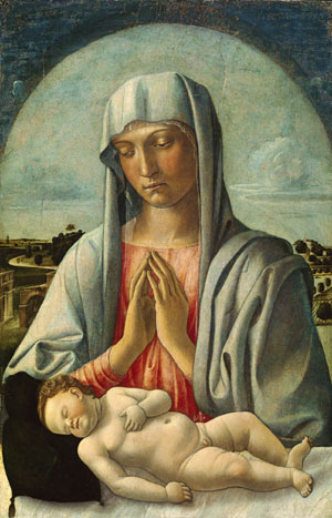 Madonna Adoring the Sleeping Child early 1460s | Giovanni Bellini | Oil Painting