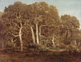 The Great Oaks of Old Bas Breau 1864 | Thedore Rousseau | Oil Painting