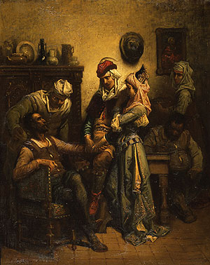 Don Quixote and Sancho Panza Entertained by Basil and Quiteria | Gustave Dor | Oil Painting