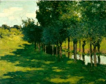 Sunlight and Shadow 1888 | Willard Leroy Metcalf | Oil Painting