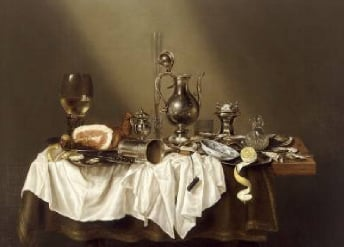 Banquet Piece with Ham 1656 | Willem Heda | Oil Painting