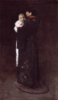 Mother and Child 1888 | William Merritt Chase | Oil Painting