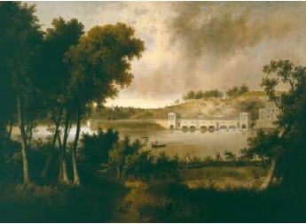 View of the Fairmount Waterworks Philadelphia from the Opposite Side of the Schuylkill River 1824 26 | Thomas Doughty | Oil Painting