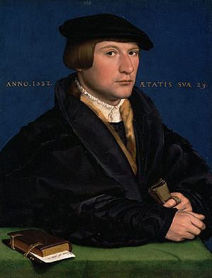 Portrait of a Member of the Wedigh Family Probably Hermann Wedigh (died 1560) 1532 | Hans Holbein the Younger | Oil Painting