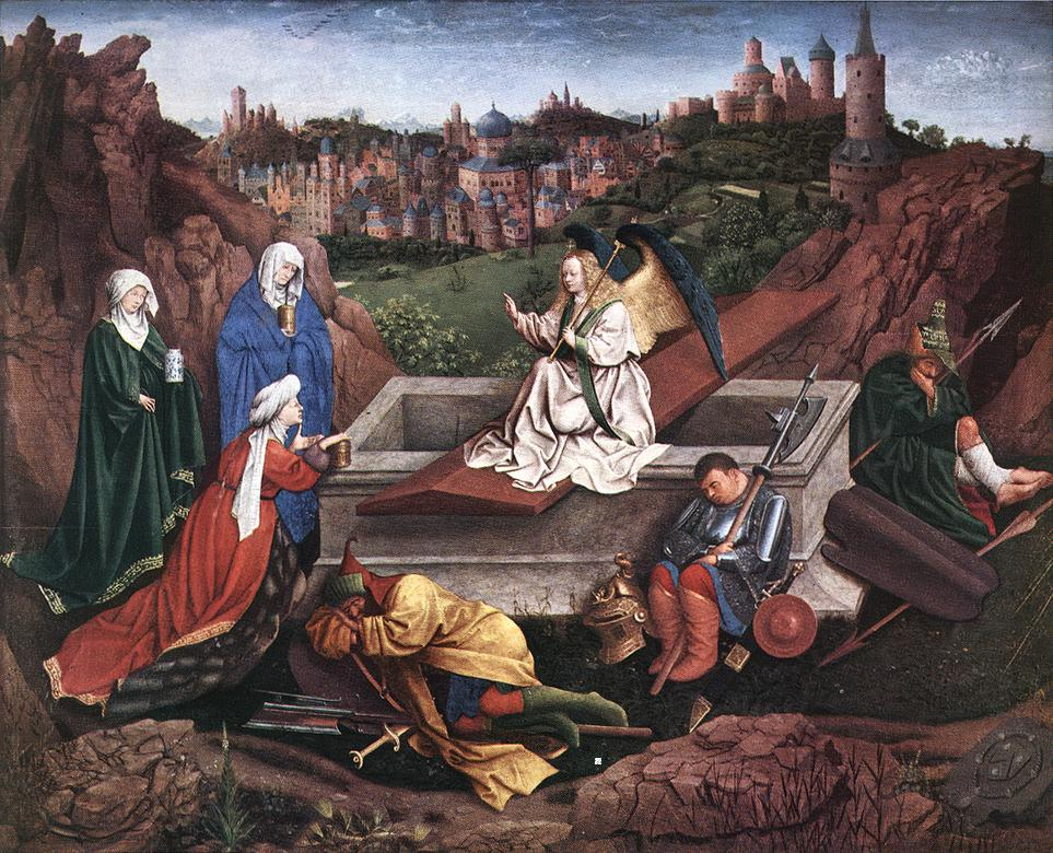 The Three Marys At The Tomb | Hubert Van Eyck | Oil Painting