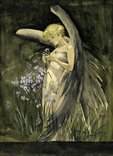 Fairy in Irises 1888 | Dora Wheeler | Oil Painting
