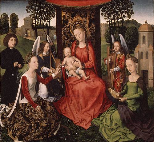 Virgin and Child with Saints Catherine of Alexandria and Barbara early 1480s | Hans Memling | Oil Painting