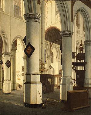 Interior of the Oude Kerk Delft 1660 | Hendrick Cornelisz van Vliet | Oil Painting