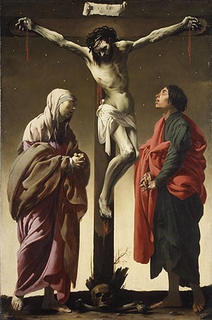 The Crucifixion with the Virgin and Saint John ca 1625 | Hendrick ter Brugghen | Oil Painting