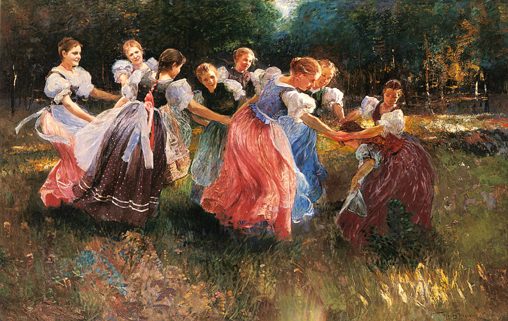 The Rite of Spring   Ignac Ujvary   Oil Painting