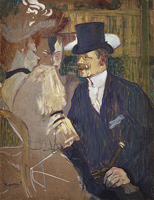 The Englishman (William Tom Warrener) at the Moulin Rouge 1892 | Henri de Toulouse Lautrec | Oil Painting
