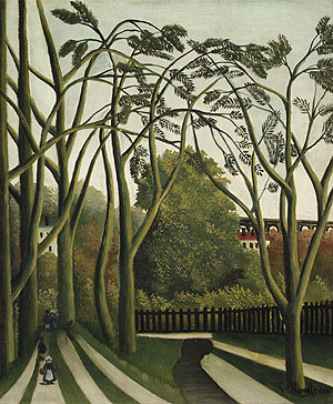 The Banks of the Biere near Bicere | Henri Julien Feix Rousseau (le Douanier) | Oil Painting