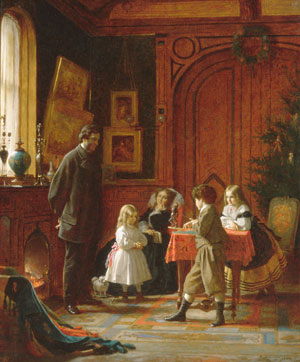 Christmas Time The Blodgett Family 1864 | Eastman Johnson | Oil Painting