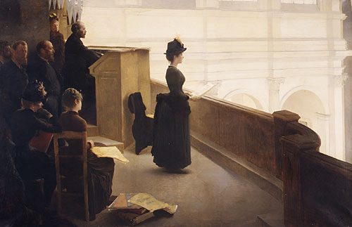 At the Organ | Henry Lerolle | Oil Painting