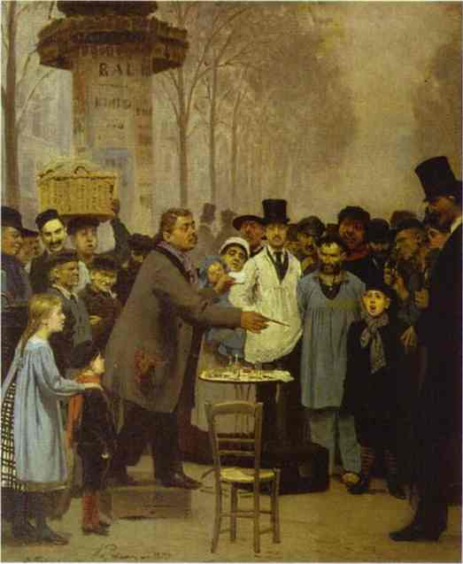 A Newspaper Seller In Paris 1873 | Ilya Repin | Oil Painting