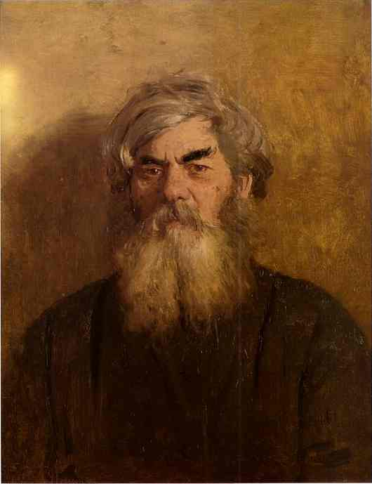 A Peasant With An Evil Eye 1877 | Ilya Repin | Oil Painting