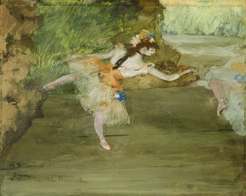 Dancer Onstage ca. 1877 | Edgar Degas | Oil Painting