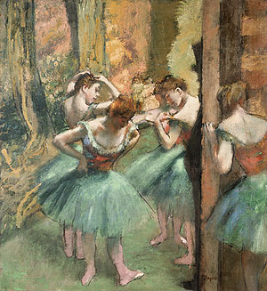 Dancers Pink and Green ca. 1890 | Edgar Degas | Oil Painting
