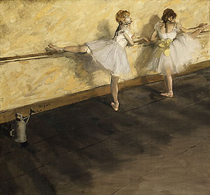 Dancers Practicing at the Bar 1877 | Edgar Degas | Oil Painting