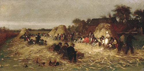 Corn Husking at Nantucket 1875 | Eastman Johnson | Oil Painting