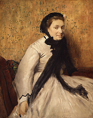 Portrait of a Woman in Gray ca. 1865 | Edgar Degas | Oil Painting