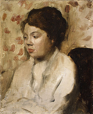 Portrait of a Young Woman ca. 1885 | Edgar Degas | Oil Painting
